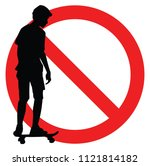 forbidden extreme sport game ... | Shutterstock .eps vector #1121814182