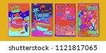 set of summer illustration for...   Shutterstock .eps vector #1121817065