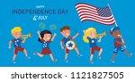american children of various... | Shutterstock .eps vector #1121827505