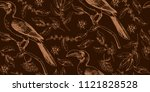 seamless tropical pattern with... | Shutterstock .eps vector #1121828528