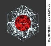 cover design template. lattice... | Shutterstock .eps vector #1121829302