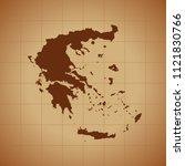 map of greece   Shutterstock .eps vector #1121830766