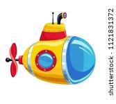 illustration of cartoon yellow ... | Shutterstock . vector #1121831372