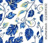vector seamless pattern on... | Shutterstock .eps vector #1121834132