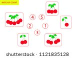 counting game for preschool... | Shutterstock .eps vector #1121835128