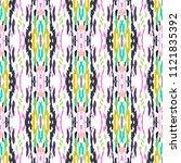ikat print in modern style ... | Shutterstock .eps vector #1121835392