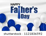 happy father s day calligraphy... | Shutterstock .eps vector #1121836592