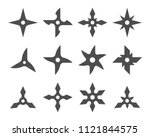 shuriken ninjas icon set black... | Shutterstock .eps vector #1121844575