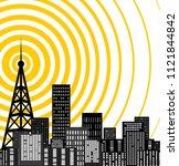 tower transmtter icon   Shutterstock .eps vector #1121844842