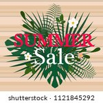 summer sale colorful background.... | Shutterstock .eps vector #1121845292