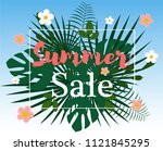 summer sale colorful background.... | Shutterstock .eps vector #1121845295