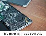 laptop disassembling in repair... | Shutterstock . vector #1121846072