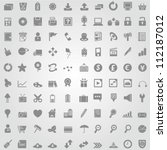 100 simple and clean web icon...