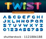 vector of twist ribbons... | Shutterstock .eps vector #1121886188