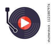media player with black vinyl... | Shutterstock .eps vector #1121887976