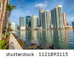 downtown miami skyline from... | Shutterstock . vector #1121893115