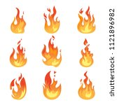 set of isolated blazing... | Shutterstock .eps vector #1121896982