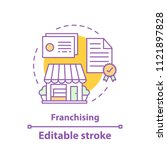 franchising concept icon.... | Shutterstock .eps vector #1121897828