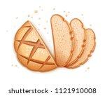 rye round dark bread. realistic ...   Shutterstock .eps vector #1121910008