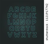 vector modern neon font  ... | Shutterstock .eps vector #1121917742