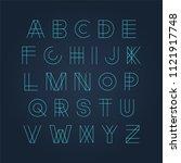 vector futuristic luminous font ... | Shutterstock .eps vector #1121917748