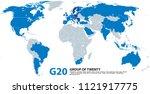 g20  group of twenty ... | Shutterstock .eps vector #1121917775