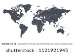 political world map of the... | Shutterstock .eps vector #1121921945