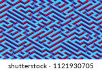 maze pattern abstract... | Shutterstock .eps vector #1121930705