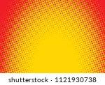 pop art styled halftone...   Shutterstock .eps vector #1121930738