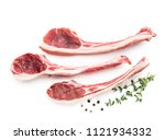 lamb chops isolated on white   Shutterstock . vector #1121934332