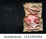 lamb chops isolated on white   Shutterstock . vector #1121934356