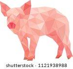 pig polygon art | Shutterstock .eps vector #1121938988