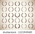 collection circular vintage... | Shutterstock .eps vector #1121949485