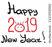 congratulations on 2019 with a... | Shutterstock .eps vector #1121955002