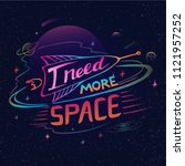 need more space lettering.... | Shutterstock .eps vector #1121957252