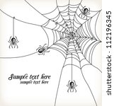 background with spiders and... | Shutterstock .eps vector #112196345