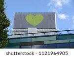 polythene wrapped burnt husk of ... | Shutterstock . vector #1121964905