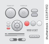light web ui elements design...