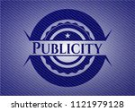publicity emblem with jean... | Shutterstock .eps vector #1121979128