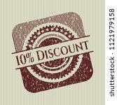 red 10  discount distress...   Shutterstock .eps vector #1121979158