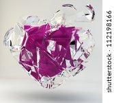 3d illustration of a broken... | Shutterstock . vector #112198166