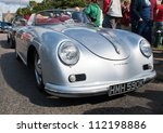 GRANTOWN ON SPEY, SCOTLAND - SEPTEMBER 2: Porsche 356 Speedster on display in the annual Motor Mania car show on September 2, 2012 in Grantown On Spey, Scotland - stock photo