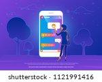 chat talk concept vector... | Shutterstock .eps vector #1121991416