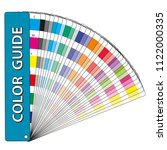 color samples in a color guide... | Shutterstock .eps vector #1122000335