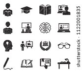 learning icons. black scribble... | Shutterstock .eps vector #1122001835