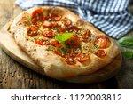 homemade tomato and basil... | Shutterstock . vector #1122003812