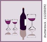 illustration of wine glasses... | Shutterstock .eps vector #112200392