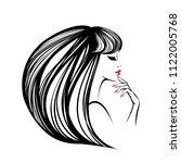 beauty  hair salon and nail art ...   Shutterstock .eps vector #1122005768