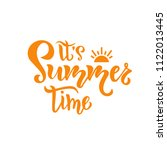 its summer time hand drawn... | Shutterstock .eps vector #1122013445
