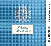 merry christmas scandinavian... | Shutterstock . vector #1122017276